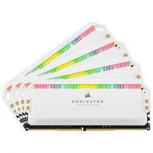 Corsair Dominator Platinum RGB 64 Go (4 x 16 Go) DDR4 3200 MHz CL16 - Blanc