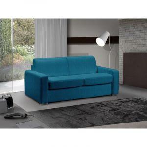 INSIDE Canapé lit 3-4 places MASTER convertible système RAPIDO 160 cm Tweed Cross turquoise MATELAS 18 CM INCLUS