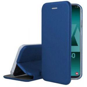 Ibroz Etui Samsung A50 Cuir bleu marine