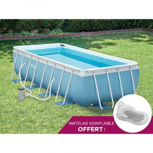 Intex 28318 Piscine Tubulaire Rectangulaire 4 88 X 2 44 X 1 07 M