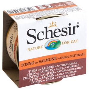 Schesir Natural en sauce 6 x 70 g pour chat - thon, saumon