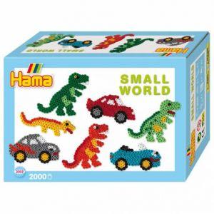 """Hama Boîte de perles moyennes """"Le monde miniature des dinosaures"""""""