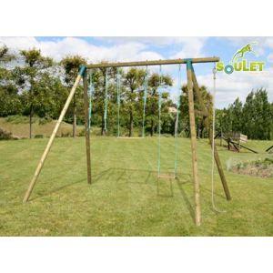 Soulet Galdar - Portique adulte 4 agrès en bois 3,25 m