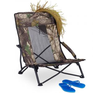 Relaxdays Plage Pliable Chaise de Camping Fauteuil Pliant pêche Pique Nique 100 kg Relax 70x57x55 cm, Vert