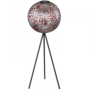 Globo Lampe solaire à LED, boule, antique argent, noir, H 80 cm
