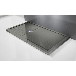 Receveur de douche extra plat gris 160 x 90 - Comparer 48 offres