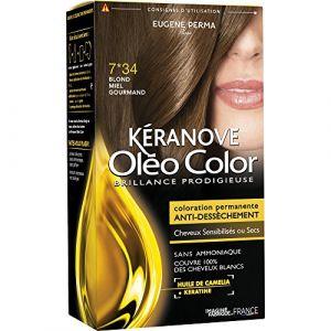 Kéranove Oléo Color 7.34 Blond miel gourmand - Coloration permanente anti-dessèchement