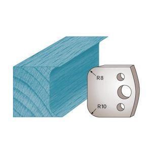 Diamwood Platinum Jeu de 2 fers profilés Ht. 40 x 4 mm double congé M03 pour porte-outils de toupie