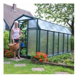 Palram Serre de jardin en polycarbonate Rion Eco Grow 7,90 m², Ancrage au sol Non - longueur : 3m87
