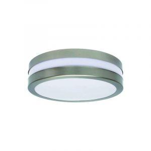Kanlux Plafonnier extérieur rond argent blanc jardin garage éclairage socket 2xE27 IP44 8980