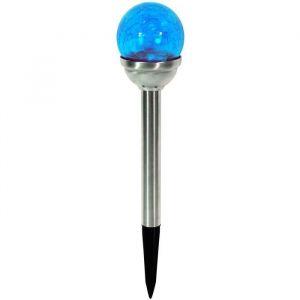 Galix Lanterne solaire Inox Bleue
