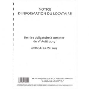Weber DIFFUSION Notice d'information du locataire