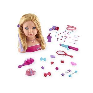 Dream Dazzlers Tête à coiffer blonde avec maquillage magique et 70 accessoires