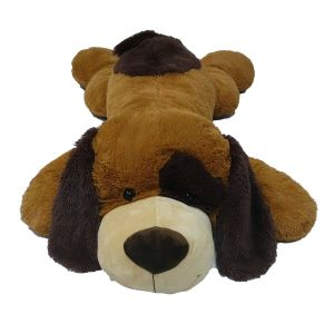 Soft Friends Peluche chien couché marron 135 cm