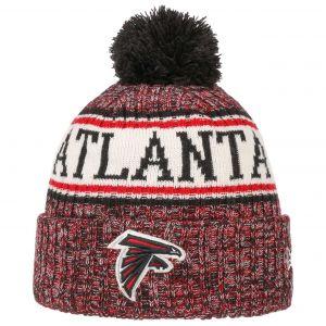 New Era Sideline Bobble Atlanta Falcons bonnet rouge noir chiné