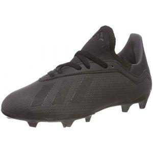 Adidas X 18.3 FG J, Chaussures de Football Mixte Enfant, Noir