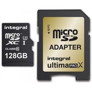Integral UltimaPro X - carte mémoire flash - 128 Go - microSDXC UHS-I