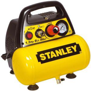 Stanley Compresseur Dn 200/8/6 sans huile Coaxial 6L 8 bar 1,5CV avec Nanomètre