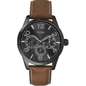 Guess W0493G - Montre pour homme avec bracelet en cuir