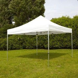 MobEventPro Tente de réception pliante blanche 3x4,5m 300g/m² 40mm