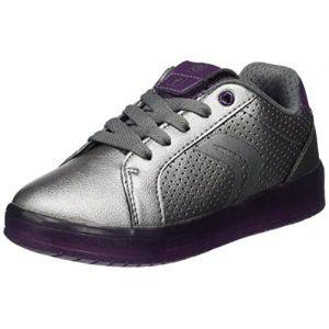Geox J Kommodor A, Sneakers Basses Fille, Argent (DK Silver/Prune), 30 EU