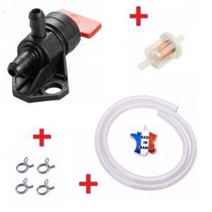 Cyclingcolors KIT ESSENCE HONDA GCV 135 GCV 160 16950-ZG9-M02 : ROBINET + COLLIER + DURITE + FILTRE A CARBURANT TONDEUSE TRACTEUR MOTOCULTEUR