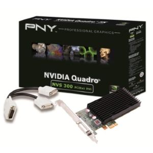 PNY VCNVS300X1DVI-PB - Carte graphique Quadro NVS 300 Low Profile 512 Mo DDR3 PCI-E 2.0