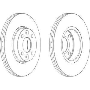 Ferodo DDF1201 - Jeu de 2 disques de frein