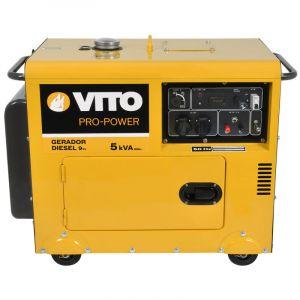 Vito Pro-Power Groupe électrogène 5 KVA VITOPOWER 416 CC 4000W Monophasé DIESEL Silencieux 14.5 litres
