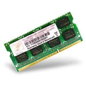 G.Skill F3-10666CL9S-4GBSQ - Barrette mémoire Standard 4 Go DDR3 1333 MHz CL9 SoDimm 204 broches