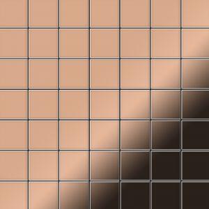 Alloy Mosaïque métal massif Carrelage Cuivre laminé cuivre Grosseur 1,6mm Attica-CM 0,85 m2