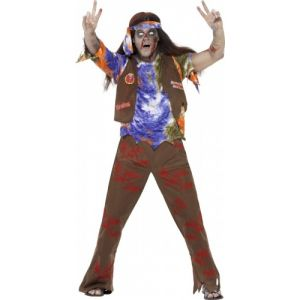 Smiffy's Déguisement zombie hippie homme Halloween