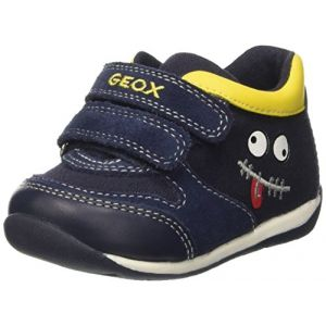 Geox B Each Boy B, Chaussures Marche Bébé Garçon, Bleu (Navy/YELLOWC0657), 20 EU