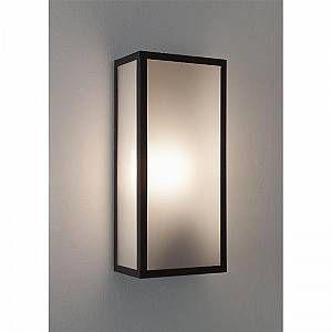 Astro Lighting Messina lampe de mur extérieur noir avec verre - dépoli 7187