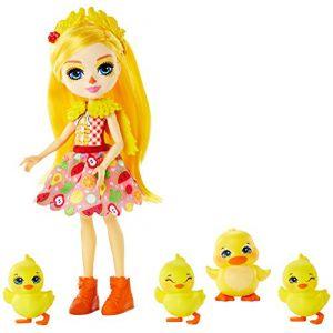 Mattel Enchantimals Dinah et famille Canard