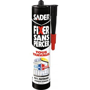 Sader Fixer sans percer tous travaux vg cartouche 290 ml blanc -