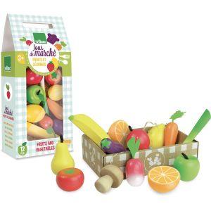 Vilac Set fruits et légumes Jour de Marché