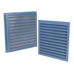 Renson Grille de ventilation murale à encastrer en aluminium 300x300mm 00041133