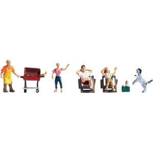 Noch 15588 - Figurines barbecue en famille - Echelle 1:87 (H0)