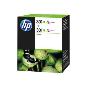 HP D8J46AE - 2 Cartouches d'encre 301XL couleurs