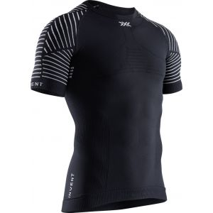 X-Bionic Invent 4.0 Shirt Round Neck Long Sleeves Men Sport Maillot de Compression Homme, Black/Charcoal, FR : L (Taille Fabricant : L)