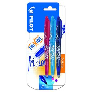 Pilot 3 Stylos rollers Frixion ball Turquoise / Rose / Violet