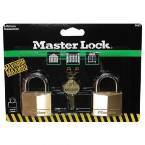 Master Lock Cadenas Anse 22 mm - Longueur 40 mm - Lot de 2