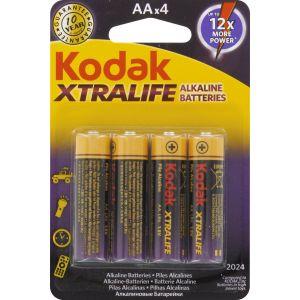 Kodak Xtralife Mignon AA batterie alcaline KAA-4 4x