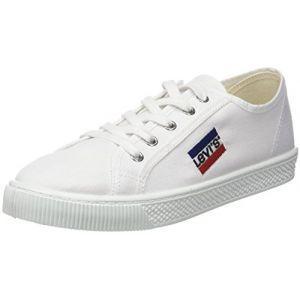 Levi's Sportswear Malibu, Baskets Homme, Blanc (Brillant White), 46 EU (11)