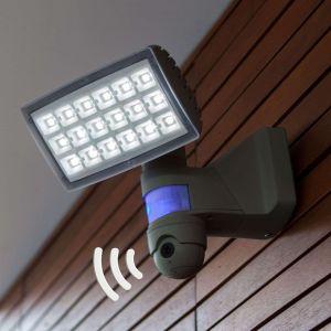 Lutec Spot d'extérieur LED Peri Cam - caméra, détecteur