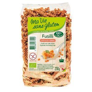 Ma vie sans gluten Fusillis lentilles corail 250gr