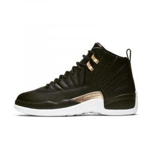 Nike Chaussure Air Jordan 12 Retro pour Femme - Noir - Couleur Noir - Taille 38.5