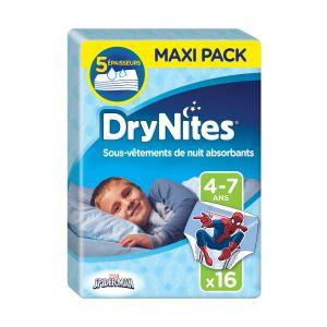Huggies Culottes De Nuit Garçon T 4-7 Ans Drynites - Le Paquet De 16