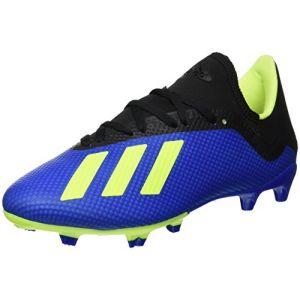Adidas X 18.3 FG, Chaussures de Football Homme, Bleu (Fooblu/Amasol / Negbás 000), 44 2/3 EU